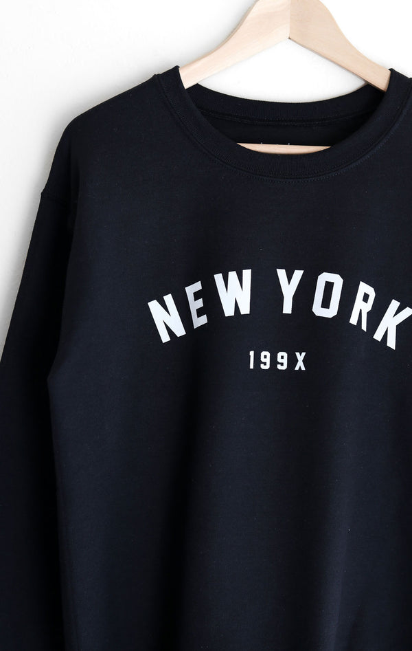NYCT Clothing New York 199x Sweatshirt - Black
