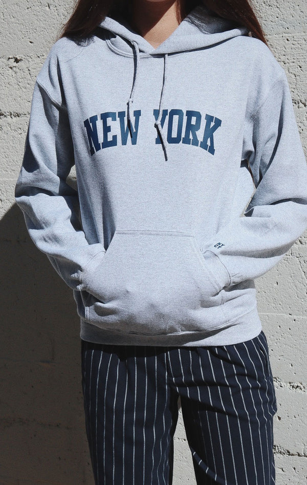 NYCT Clothing New York Hoodie - Grey