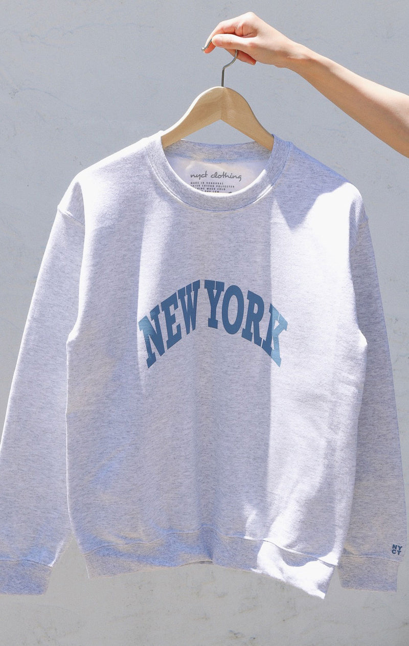 NYCT Clothing New York Sweatshirt - Ash Grey