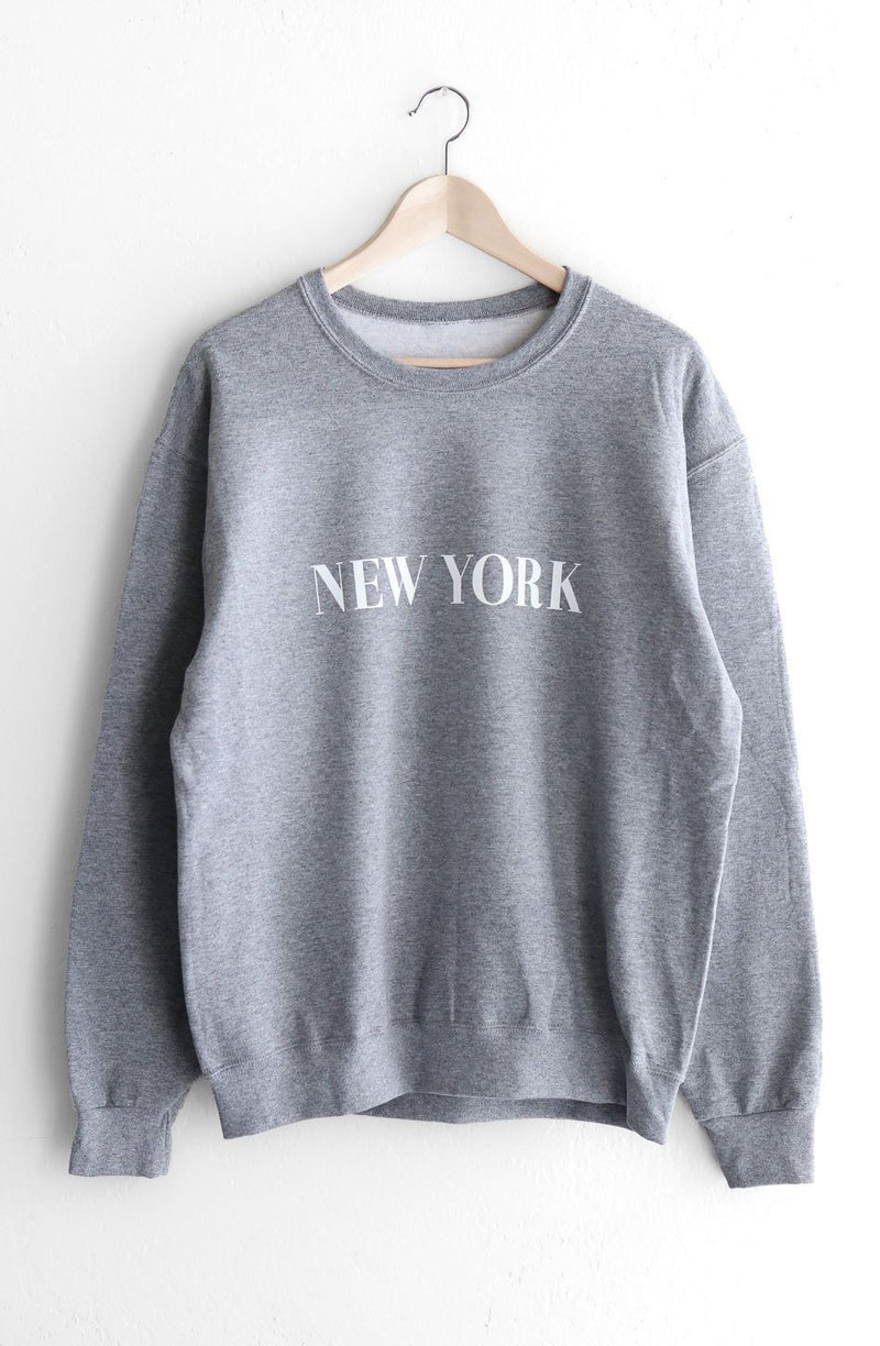 NYCT Clothing New York Oversized Sweatshirt - Grey