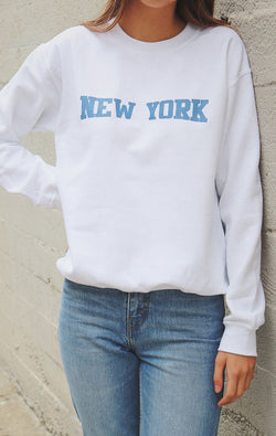 NYCT Clothing New York Sweatshirt - White