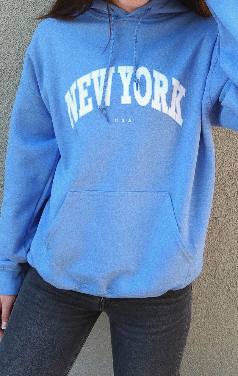 NYCT Clothing New York Hoodie - Blue