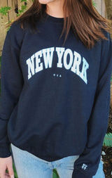 NYCT Clothing New York Sweatshirt - Navy