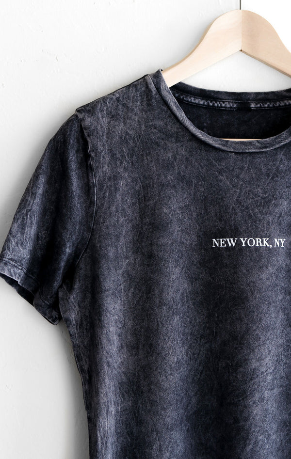 NYCT Clothing New York, NY Relaxed Tee - Acid Wash Black