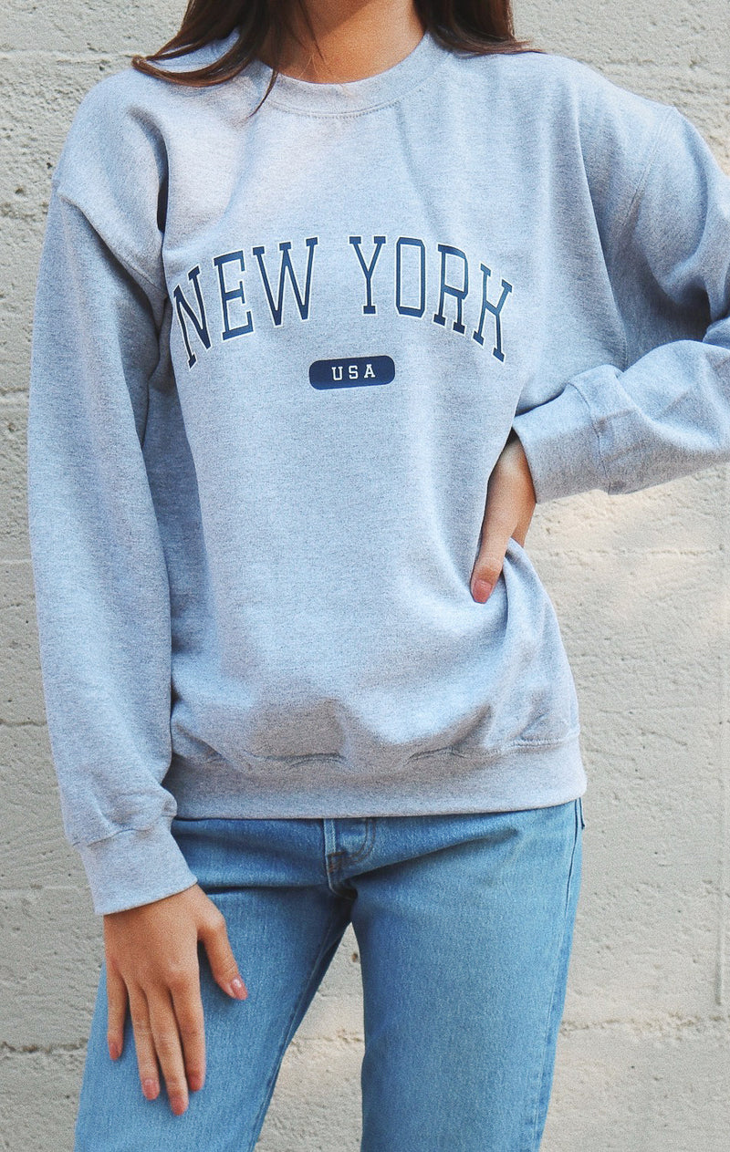 NYCT Clothing New York USA Sweatshirt - Grey