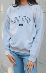 NYCT Clothing NYCT Clothing New York USA Sweatshirt - Grey
