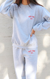 NYCT Clothing New York, NY Sweatshirt + Sweatpants Set - Grey