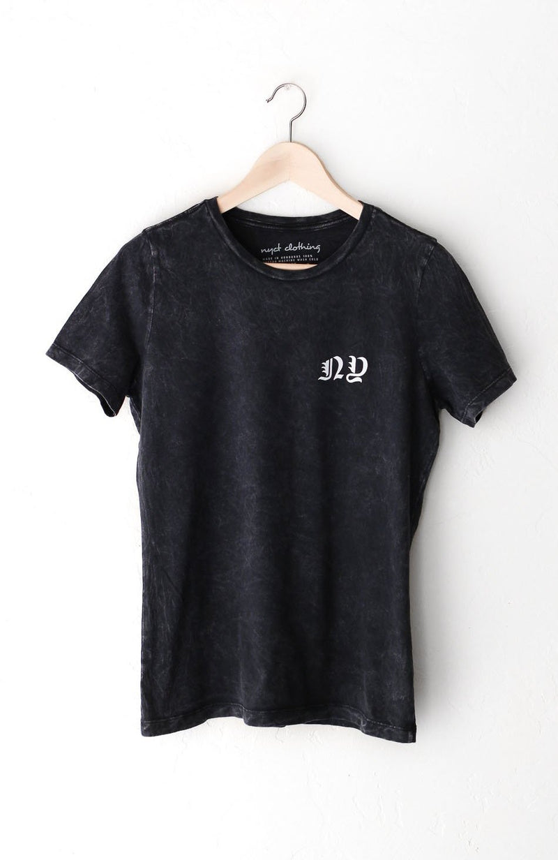 NYCT Clothing NY Relaxed Tee - Acid Wash