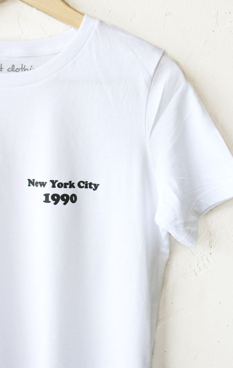 New York City 1990 Relaxed Tee - White