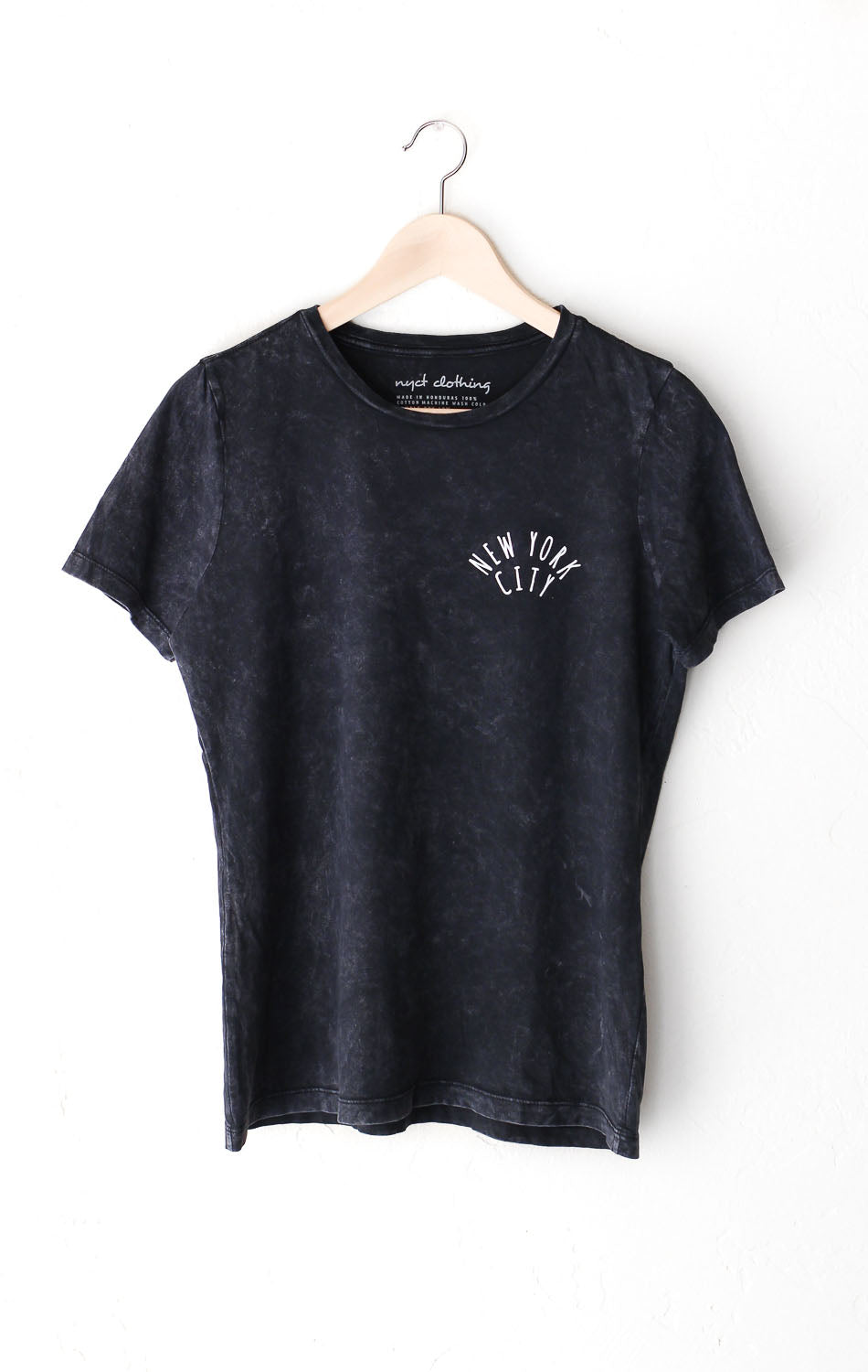 NYCT Clothing New York City Relaxed Tee - Acid Wash Black