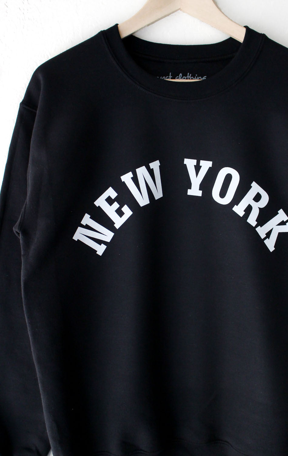 NYCT Clothing New York Oversized Sweater - Black