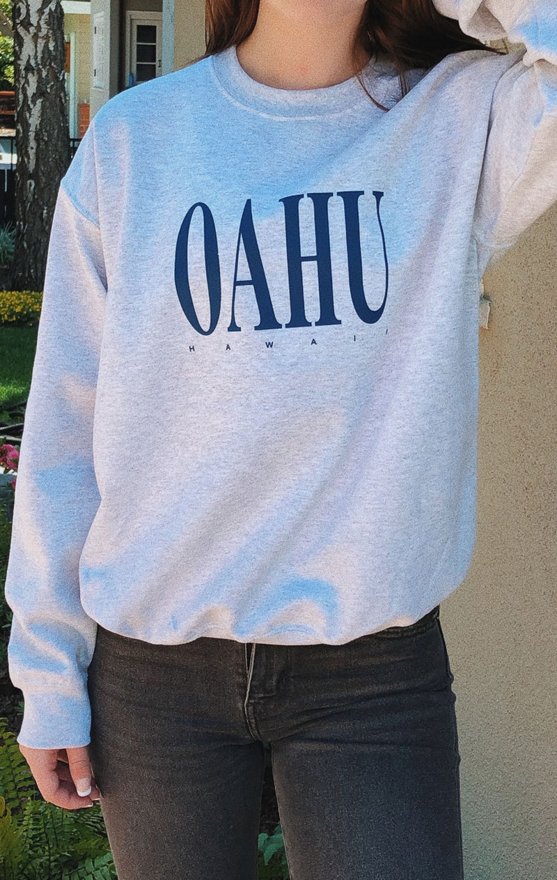 NYCT Clothing Oahu Hawaii Sweatshirt - Ash Grey