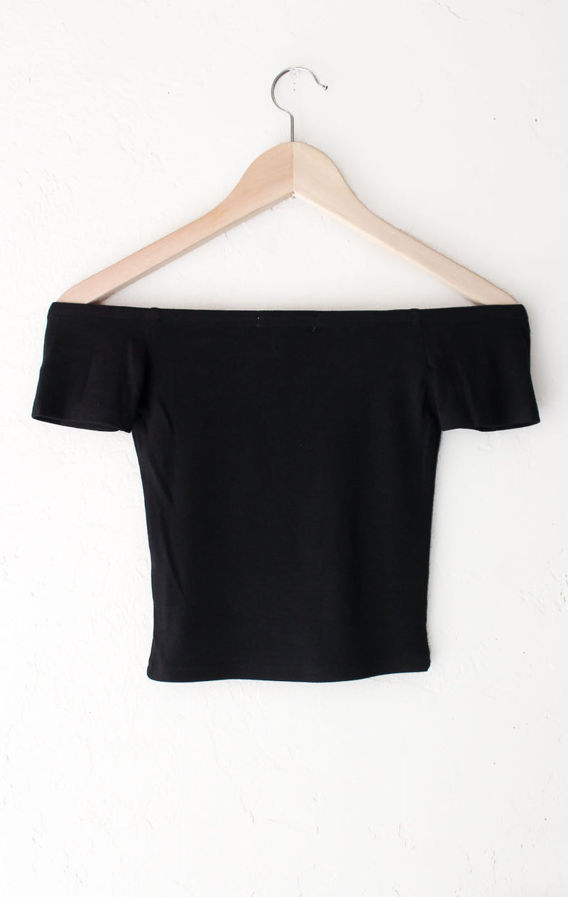 NYCT Clothing Off Shoulder Crop Top