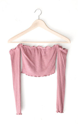 NYCT Clothing Off The Shoulder Crop Top