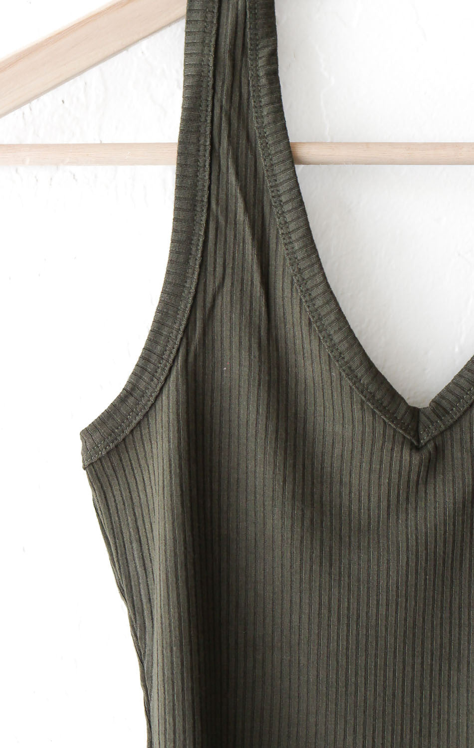 NYCT Clothing Olive Halter Crop Top