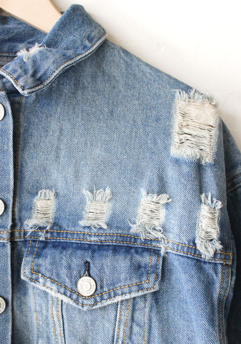 NYCT Clothing Destroyed Classic Denim Jacket