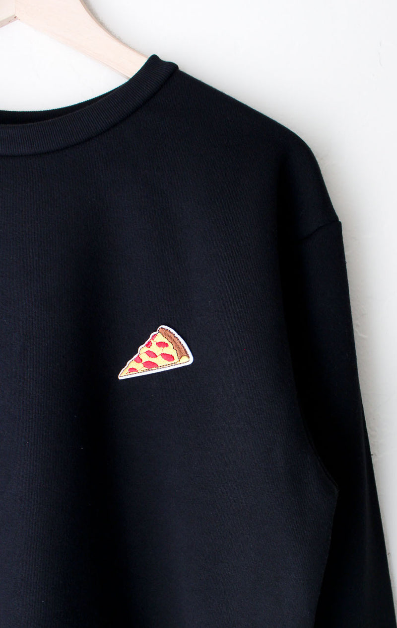 NYCT Clothing Pizza Patch Sweater