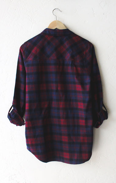 Oversized plaid flannel shirt burgundy nyct clothing for Oversized red plaid shirt