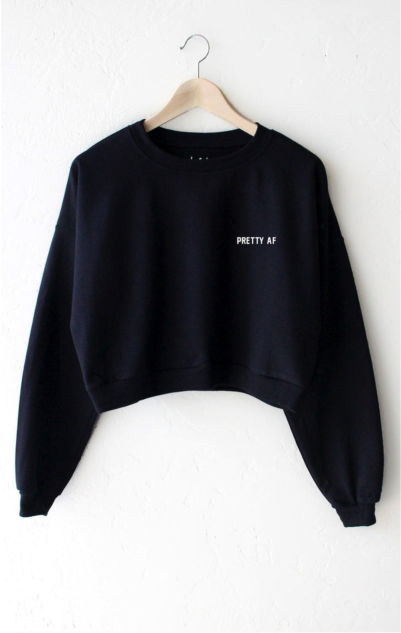 NYCT Clothing Pretty AF Cropped Sweater