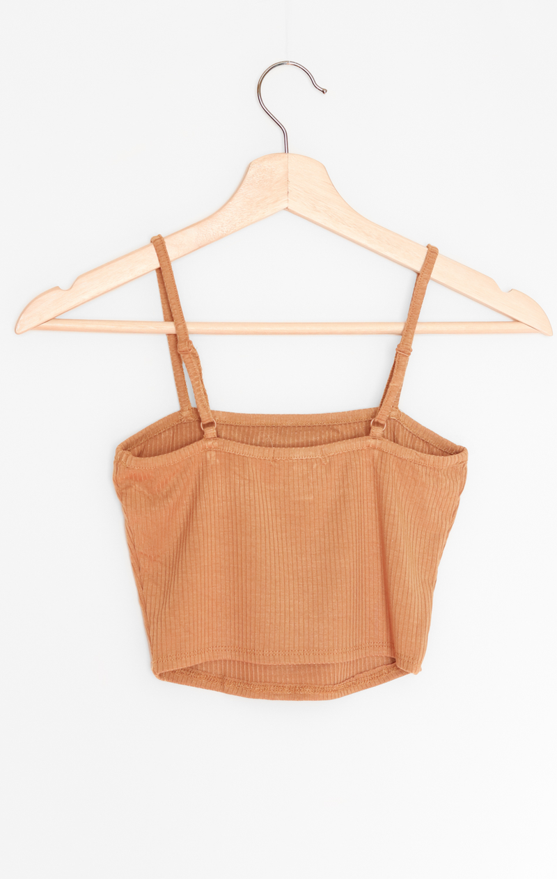 NYCT Clothing Ribbed Knit Cami Crop Top