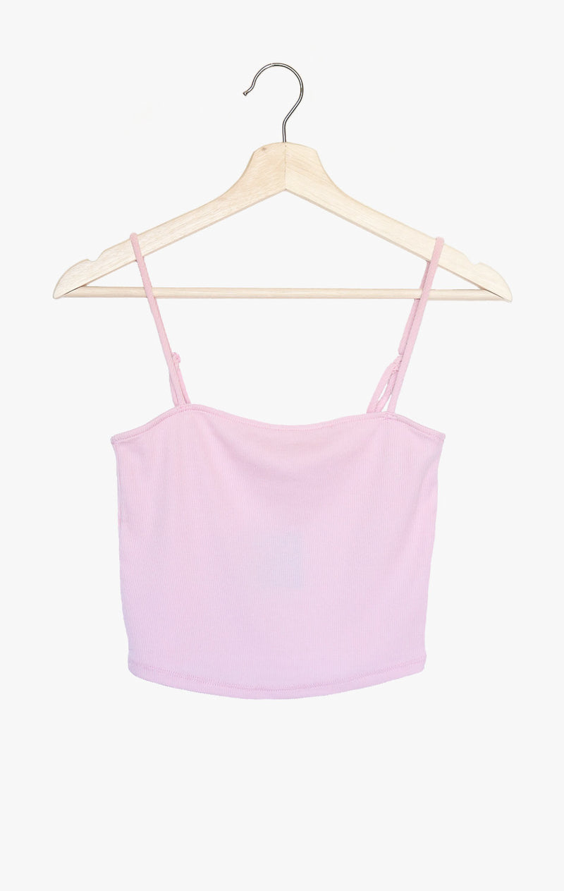 NYCT Clothing Ribbed Knit Cami - Dusty Pink