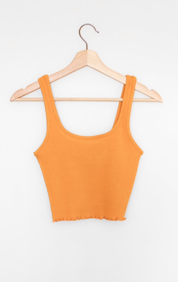 NYCT Clothing Ribbed Knit Crop Top