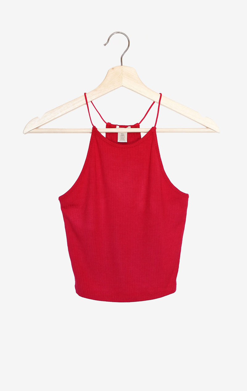 NYCT Clothing Ribbed Tank Top - Red