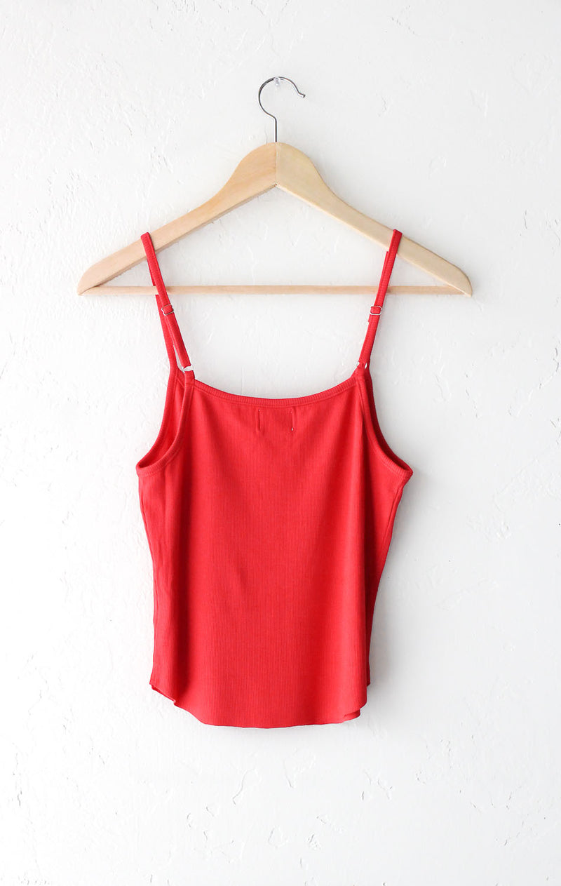 NYCT Clothing Ribbed Cami Tank Top