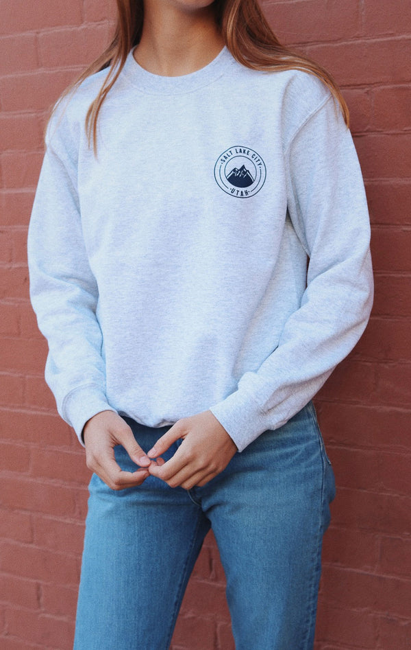 NYCT Clothing Salt Lake City Sweatshirt - Ash Grey