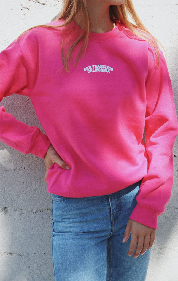 NYCT Clothing San Francisco California Sweatshirt - Pink