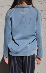 NYCT Clothing San Francisco Half Zip Sweatshirt - Dusty Blue