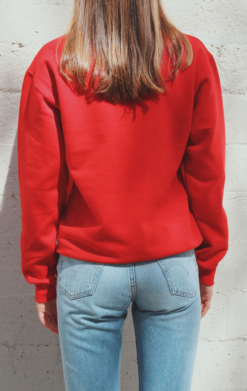 NYCT Clothing San Francisco Oversized Sweatshirt - Red