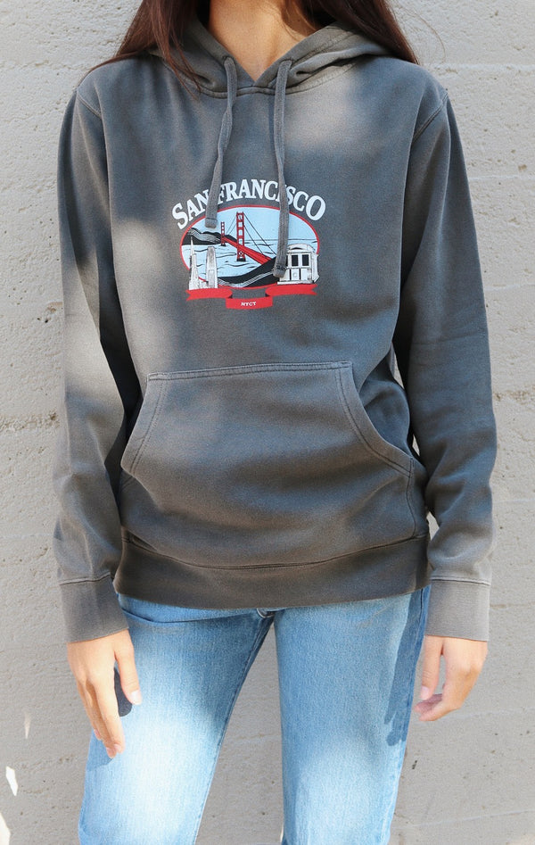 NYCT Clothing San Francisco Hoodie - Vintage Black
