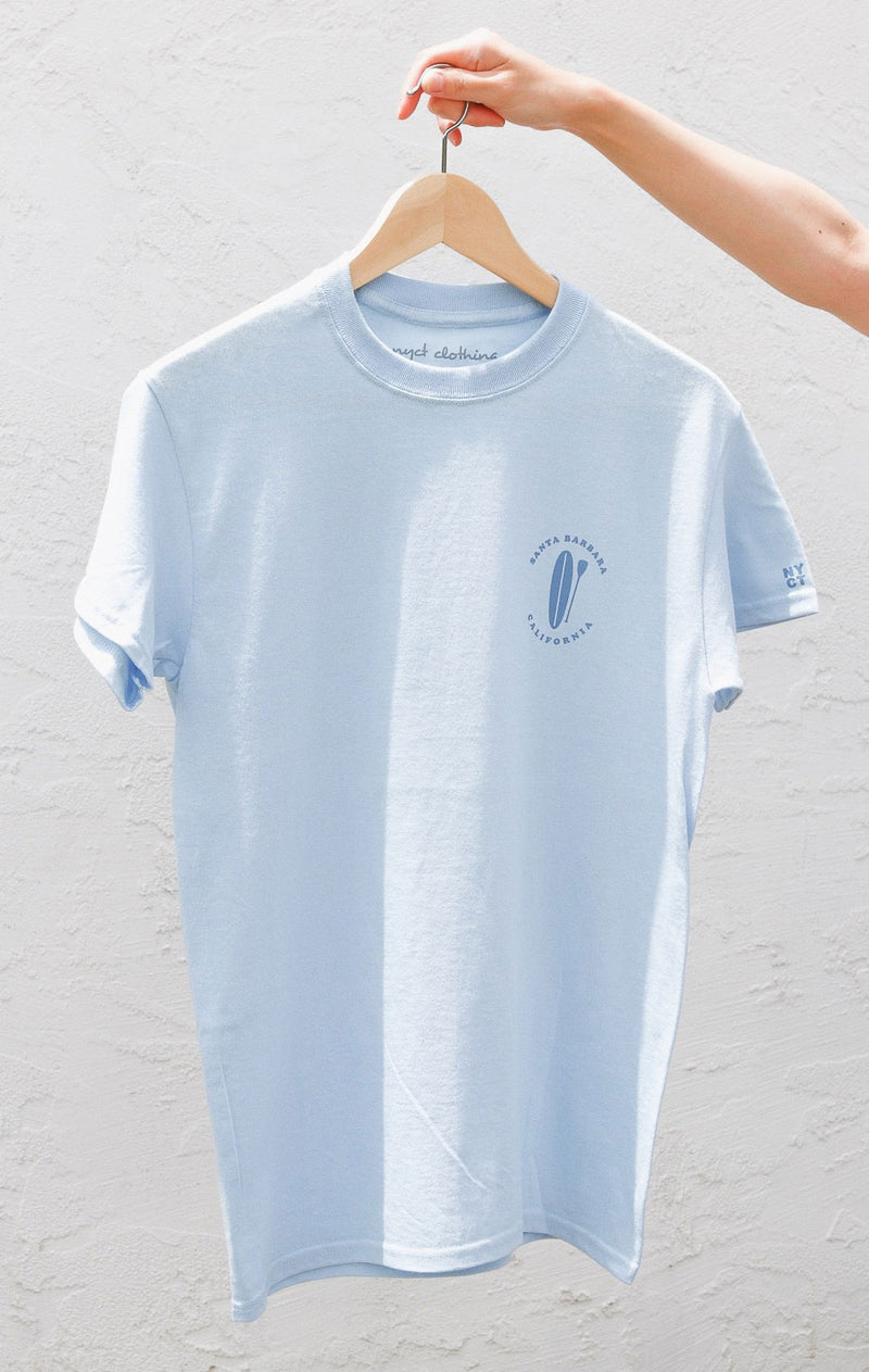 NYCT Clothing Santa Barbara T-shirt - Light Blue