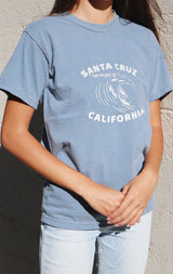 NYCT Clothing Santa Cruz Surfer T-shirt - Dusty Blue