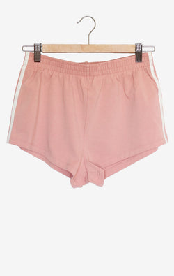NYCT Clothing Dusty Rose Side Stripe Shorts