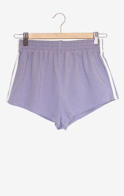 NYCT Clothing Lavender Side Stripe Shorts