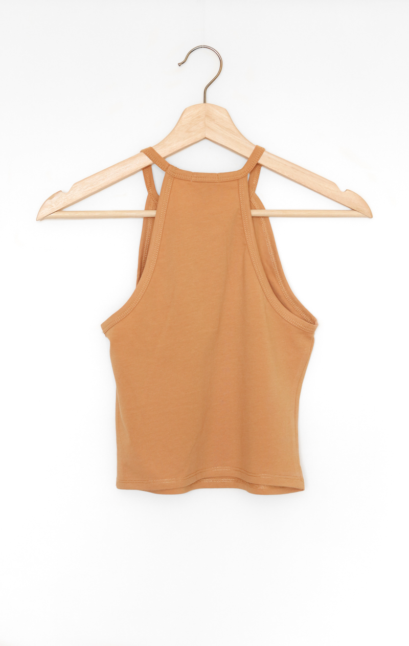 NYCT Clothing Sleeveless Crop Top - Honey Mustard