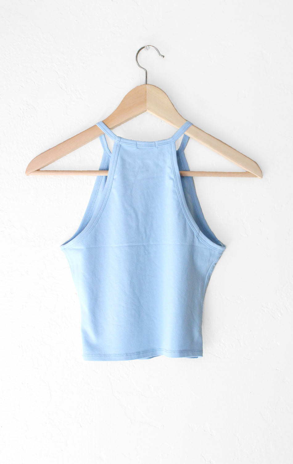 NYCT Clothing Sleeveless Crop Top - Light Blue