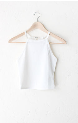 Sleeveless Crop Top - Ivory