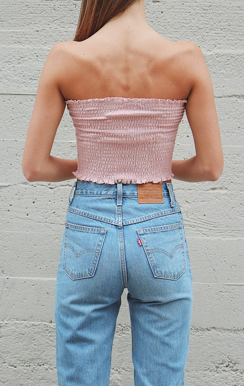 NYCT Clothing Smocked Tube Top - Dusty Rose