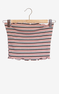 NYCT Clothing Striped Tube Top - Dusty Pink