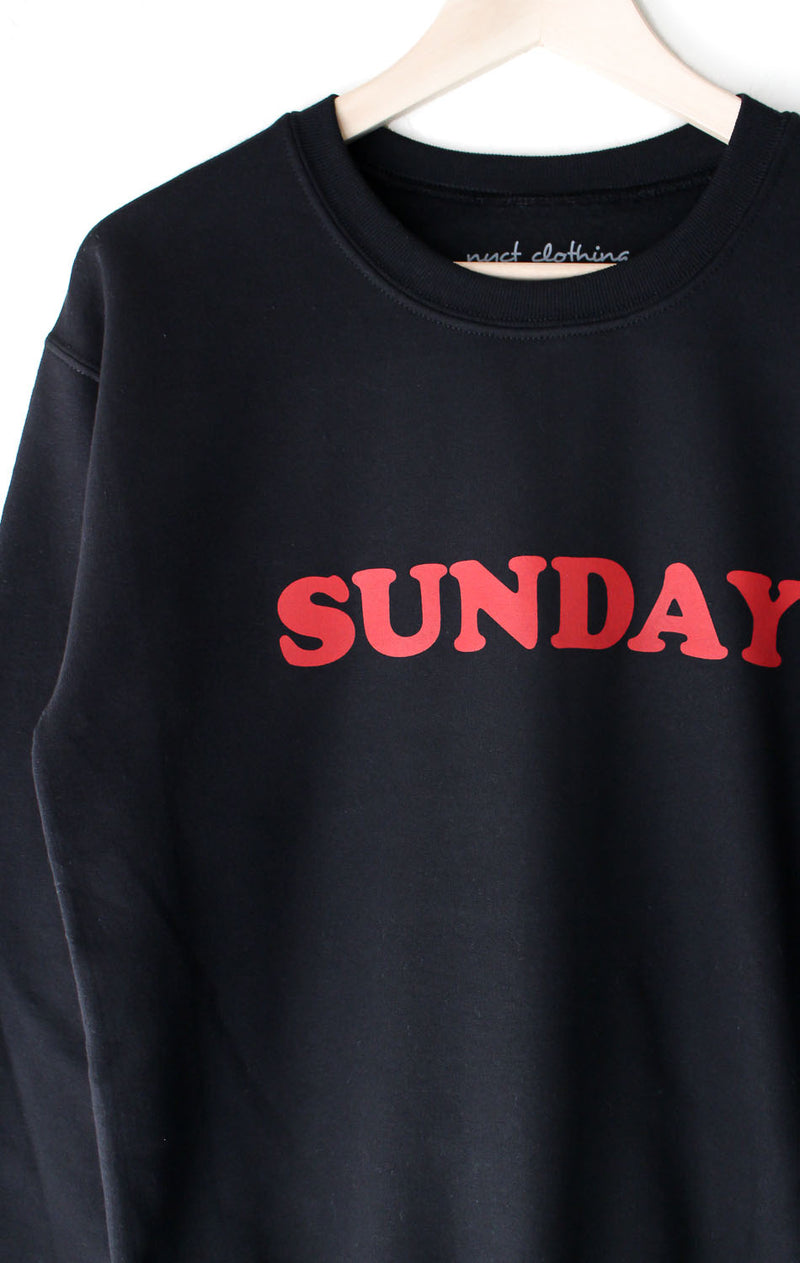 NYCT Clothing Sunday Oversized Sweatshirt - Black