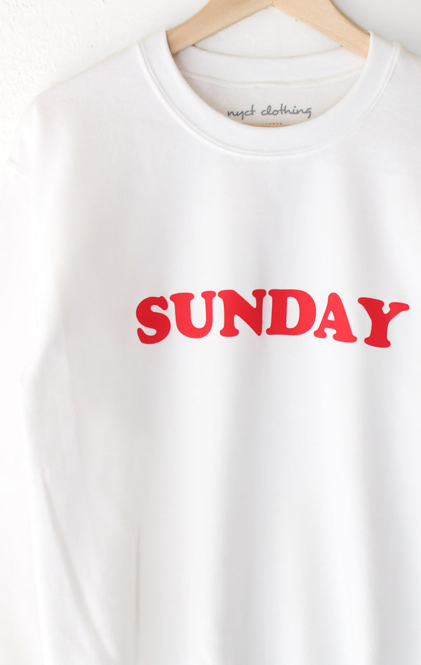 NYCT Clothing Sunday Oversized Sweatshirt - White