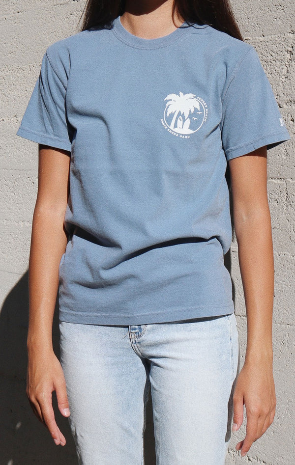 NYCT Clothing Sunset Beach T-shirt - Dusty Blue