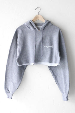 NYCT Clothing Super! Oversized Cropped Hoodie