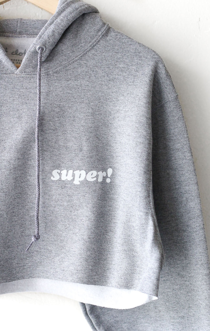 NYCT Clothing Super! Cropped Hoodie