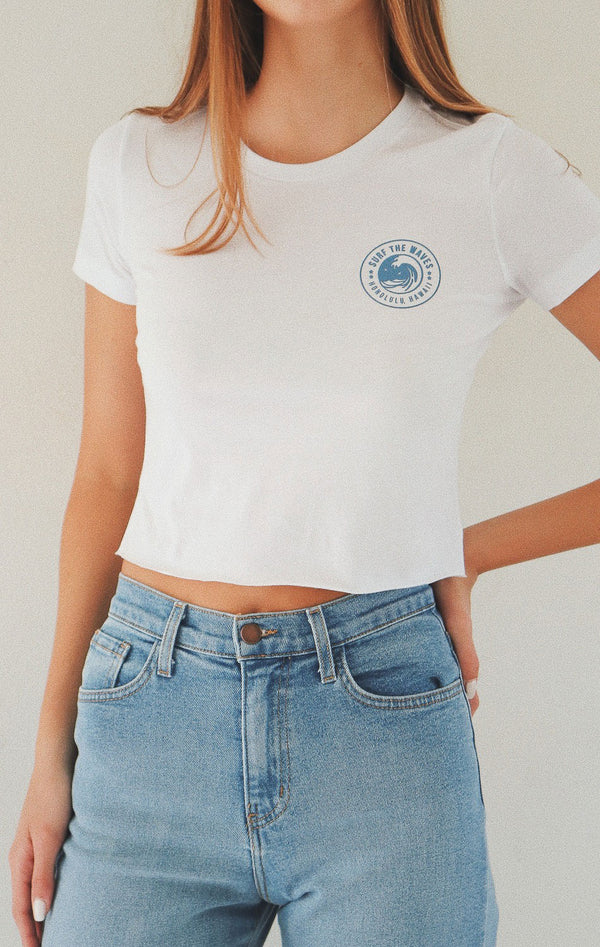 NYCT Clothing Surf The Waves Cropped Tee