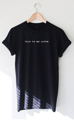 NYCT Clothing Talk To Me Later Tee - Black