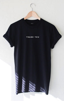 NYCT Clothing Thank You Tee - Black